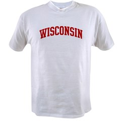 WISCONSIN (red) Value T-shirt