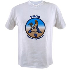 Virgo Art T-Shirt Astrology T-shirts &amp; Gifts Value T-shirt