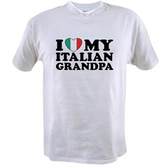 I Love My italian Grandpa Value T-shirt