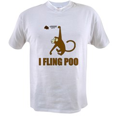 I Fling Poo Value T-shirt