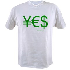 Yen Euro Dollar Value T-shirt