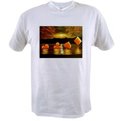 Unique Poker Art Rising Suits Value T-shirt