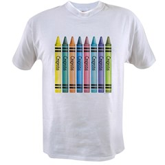 Colorful Crayons Value T-shirt