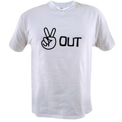 Peace Out Value T-shirt