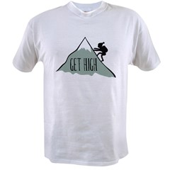 Get High: Mountain Climbing Value T-shirt