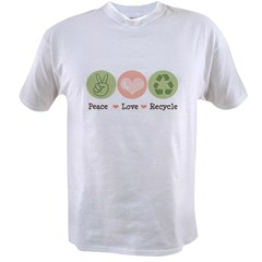 Recycling Peace Love Recycle Value T-shirt