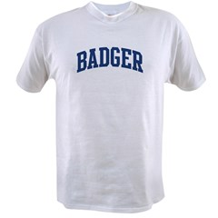 BADGER design (blue) Value T-shirt