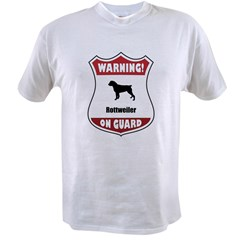 Rottweiler On Guard Value T-shirt