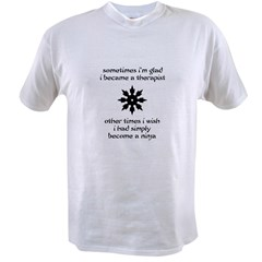 Ninja Therapist Value T-shirt