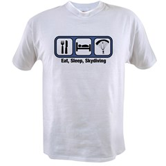 Eat, Sleep, Skydiving Value T-shirt