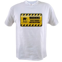 Warning Social Worker Value T-shirt