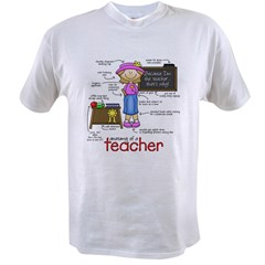 Anatomy of a Teacher Value T-shirt
