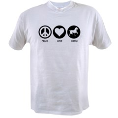 Peace Love Horse Value T-shirt