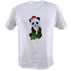 Christmas Panda Value T-shirt