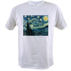 Vincent van Gogh's Starry Nigh Value T-shirt