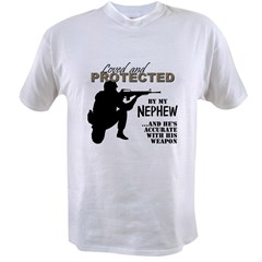Loved  Protected Nephew Value T-shirt
