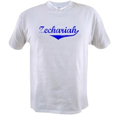 Zechariah Vintage (Blue) Value T-shirt