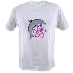 Dolphin Hibiscus Pink Value T-shirt