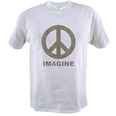 VintageImaginePeace1Bk Value T-shirt
