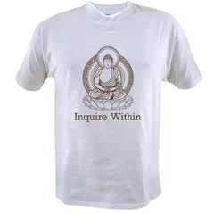 Vintage Buddha Inquire Within Value T-shirt