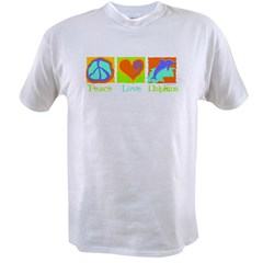 Peace Love Dolphins Value T-shirt