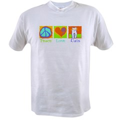 Peace Love Cats Value T-shirt