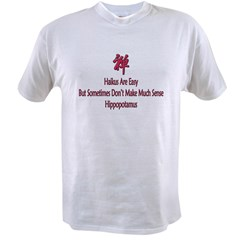 Funny Haiku Ash Grey Value T-shirt