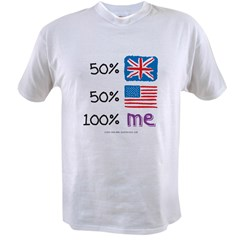 UK/USA Flag Design Value T-shirt