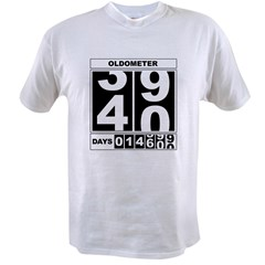 40th Birthday Oldometer Value T-shirt
