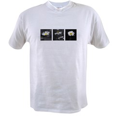 B&W Daisy Triptych Value T-shirt