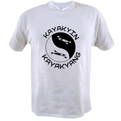 kayak yin yang Value T-shirt