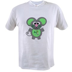 St. Patty's Day Shamrock Mouse Value T-shirt