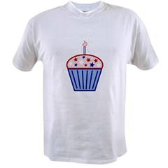 4th of July Cupcake Value T-shirt