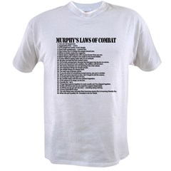 Murphy's Laws of Comba Value T-shirt