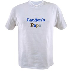 Landon's Papa Value T-shirt