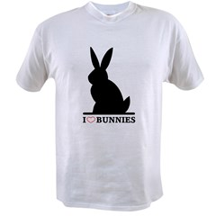 I Love Bunnies Value T-shirt