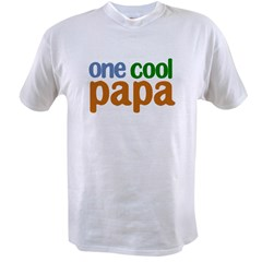 one cool papa grandpa t-shirts Value T-shirt