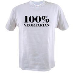 100% Vegetarian Value T-shirt