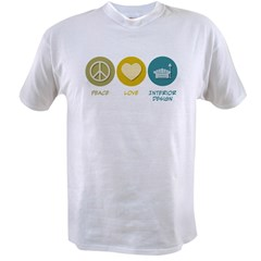 Peace Love Interior Design Value T-shirt