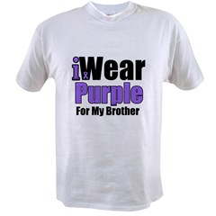 I Wear Purple For My Brother Value T-shirt