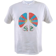 Free Tibet Peace Sign Value T-shirt
