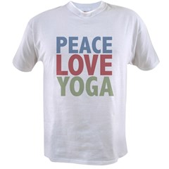 Peace Love Yoga Value T-shirt