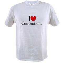 """I Love (Heart) Conventions"" Value T-shirt"