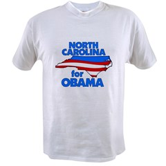 North Carolina for Obama Value T-shirt