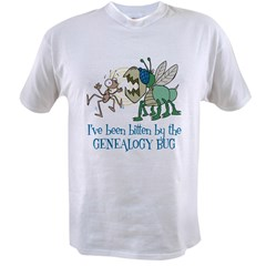 Bitten by Genealogy Bug Value T-shirt