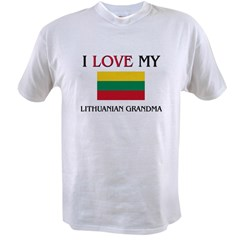 I Love My Lithuanian Grandma Value T-shirt