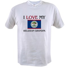 I Love My Belizean Grandpa Value T-shirt