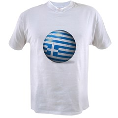 Greece Flag Soccer Ball Value T-shirt