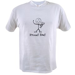 Proud Dad- one child Value T-shirt
