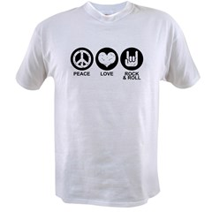 Peace Love Rock and Roll Value T-shirt